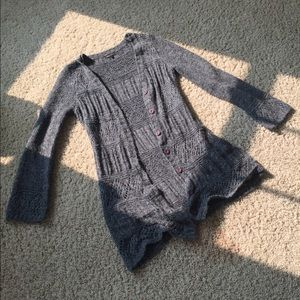 Long (to mid-thigh) BCBG Gray Sweater